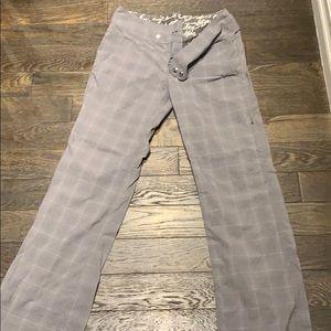 Lululemon gray plaid dress pants